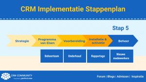 CRM Implementatie Stappenpland - 5. het Onderhoud